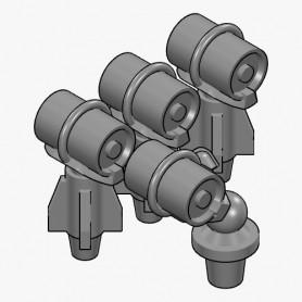 Mortier grenadeur et charges de profondeur Mk.6 (x4)
