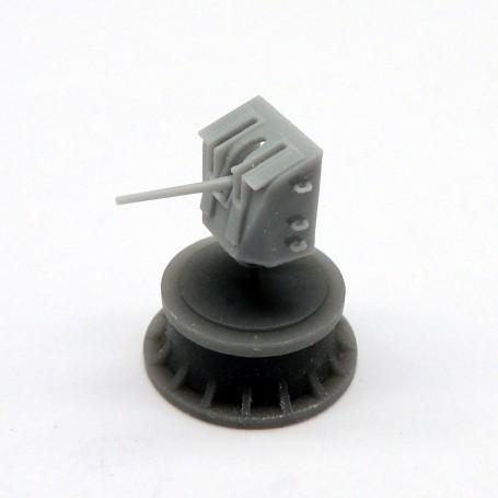 """Canon monotube de 4"""" Mk. XIX sur affût Mk.XXIII (x4)"""