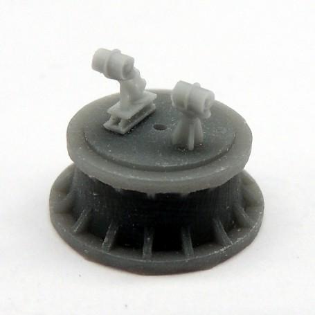 Mortier grenadeur Mk.II et charges de profondeur (x4)