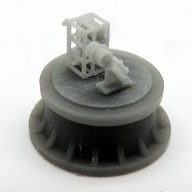 Mortier grenadeur Mk.IV et rack pour charges de profondeur (x4)