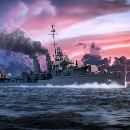USS Farragut (DD-348) Version ligne de flottaison