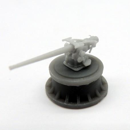 Canon de 5in./51 sur affût simple (x4)