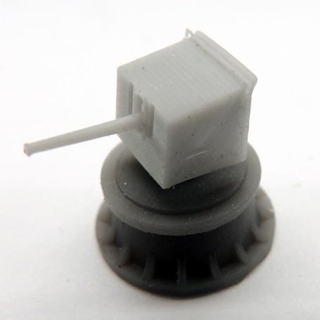 """Canon monotube de 4""""/40 BL Mk.IX sur affût CP.I  (x4)"""