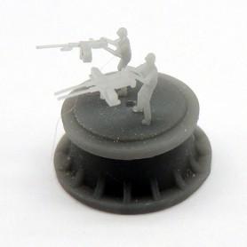 Mitrailleuse Browning M2 de 12,7mm simple et double avec tireur (x12)