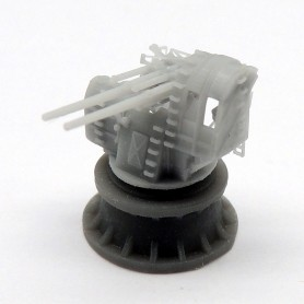 IJN type 89 AA twin mount under protective shield (x2)