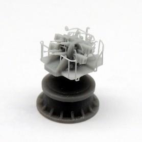 Canon Pom Pom de 2 pdr. Mk.VIII sur affût Mk.VII quadruple (x3)