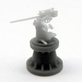Canon de 3,7cm FLAK SK C30U monotube pour U-boot (x6)