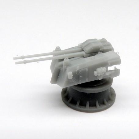 Canon de 10,5cm double SK C/33 sur tourelle LC/31 d (x2)