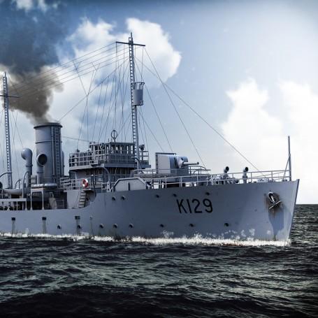 Flower class corvette version dragueur de mines