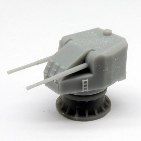 Canon bitube de 4.7in. QFSA Mk.XI sur affût Mk.XX (x2)
