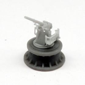 Royal Navy 4in. QF Mk.V gun on high angle Mk.III mounting (x4)