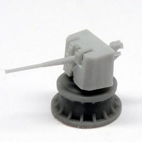 Canon de 4.7in/45 Mk.IX QFSA sur affut Mk.XIII (x4)
