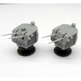 5in./38 Mk.38 twin gun mount with reinforced gunhouse (x2)