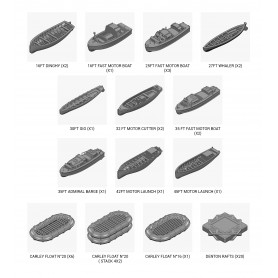 HMS Hood 1941 boats set