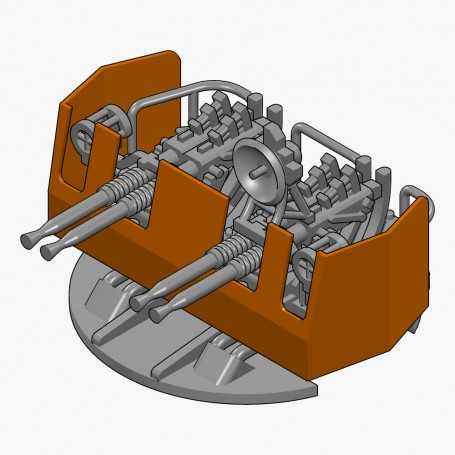 40mm Bofors quad gun Mk.4 Mod.23-31 (x4)