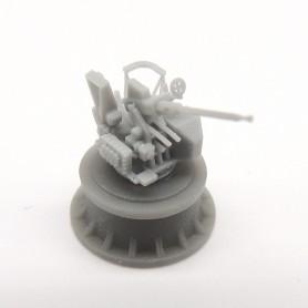 40mm Bofors gun on Mk.VII single mount (x4)