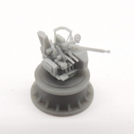 Canon de 40mm Bofors simple sur affût Mk.VII (x4)