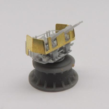 40mm Bofors quad gun Mk.2 Mod.3 (x4)