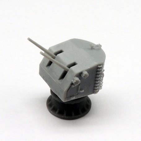 5in./38 Mk.28 twin gun mount (x2)