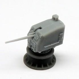 Canon de 5in./38 Mk.30 sur tourelle fermée single knukle (x2)
