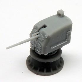 Canon de 5in./38 Mk.30 sur tourelle fermée double knukle  (x2)